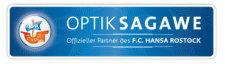 Optik Sagawe ist officeller F.C. Hansa Optiker und Partner des F.C. Hansa Rostock
